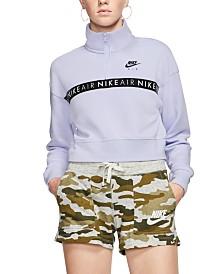 Nike Air Fleece Half-Zip Cropped Top