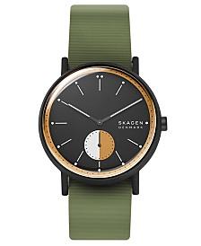 Skagen Men's Signatur Green Silicone Strap Watch 42mm