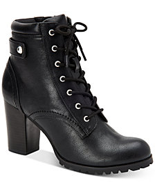 Style & Co Cassyn Lace-Up Ankle Booties, Created for Macy's
