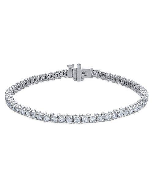 Macy's Certified Diamond Tennis Bracelet (3 ct. t.w.) in 14k White Gold