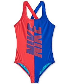 Big Girls 1-Pc. Rift Crossback Swimsuit