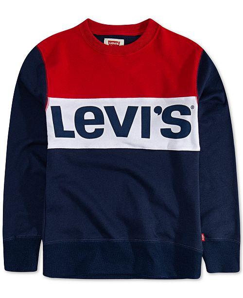 Levi's Toddler Boys Carlton Colorblocked French Terry Logo Sweatshirt