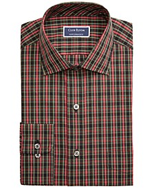 Men's Classic/Regular-Fit Stretch Wrinkle-Resistant Tartan Dress Shirt, Created For Macy's