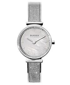 Women's Annelie Stainless Steel Mesh Bangle Bracelet Watch 25mm