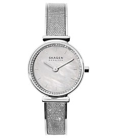 Skagen Women's Annelie Stainless Steel Mesh Bangle Bracelet Watch 25mm