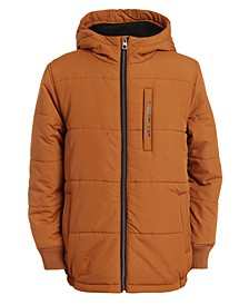 Big Boys Saco Hooded Puffer Jacket