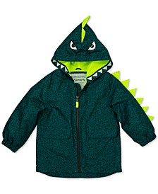 Little Boys Hooded Dinosaur Jacket