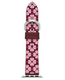 Kate Spade New York Women's Interchangeable Floral Silicone Apple Watch Strap 38mm/40mm