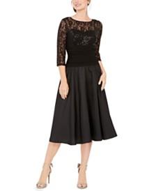 Jessica Howard Illusion Sequin Dress