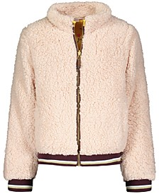 Big Girls Reversible Teddy Faux-Fur Jacket