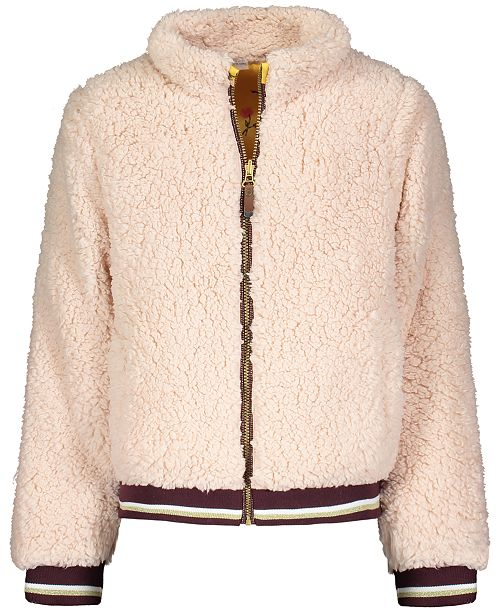 Jessica Simpson Big Girls Reversible Teddy Faux-Fur Jacket
