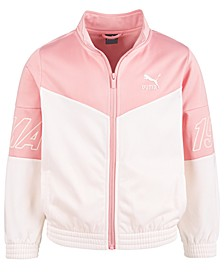Big Girls Colorblocked Tricot Track Jacket
