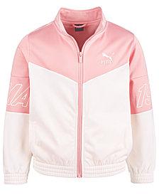 Puma Big Girls Colorblocked Tricot Track Jacket