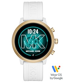 Access Gen 4 MKGO White Silicone Strap Touchscreen Smart Watch 43mm, Powered by Wear OS by Google™