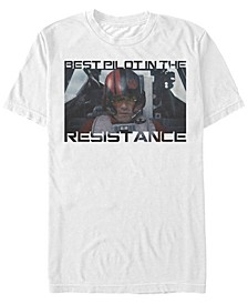 Men's Poe Dameron Best Pilot In The Resistance Short Sleeve T-Shirt