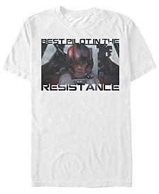 Star Wars Men's Poe Dameron Best Pilot In The Resistance Short Sleeve T-Shirt