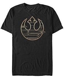 Men's Golden Rebel Logo Short Sleeve T-Shirt
