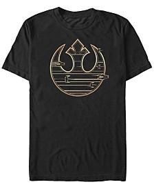 Star Wars Men's Golden Rebel Logo Short Sleeve T-Shirt