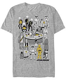 Men's Classic Cantina Highlights Cartoon Short Sleeve T-Shirt