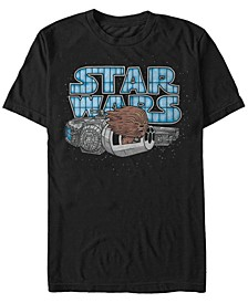 Men's Classic Cute Chewbacca Hair In The Wind Short Sleeve T-Shirt