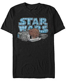 Star Wars Men's Classic Cute Chewbacca Hair In The Wind Short Sleeve T-Shirt
