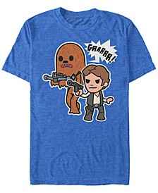 Men's Classic Cute Han Solo And Chewbacca Short Sleeve T-Shirt