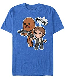 Star Wars Men's Classic Cute Han Solo And Chewbacca Short Sleeve T-Shirt