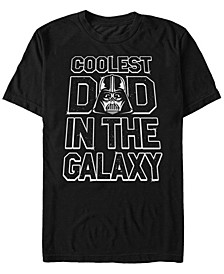 Men's Darth Vader Coolest Dad In The Galaxy Short Sleeve T-Shirt