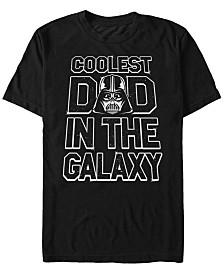 Star Wars Men's Darth Vader Coolest Dad In The Galaxy Short Sleeve T-Shirt