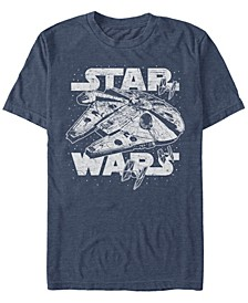 Men's Classic Millennium Falcon Starry Short Sleeve T-Shirt