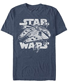 Star Wars Men's Classic Millennium Falcon Starry Short Sleeve T-Shirt