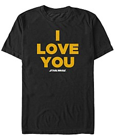 Star Wars Men's Han Solo I Love You Short Sleeve T-Shirt