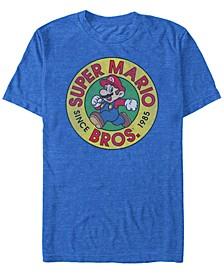 Men's Super Mario Running Mario Short Sleeve T-Shirt