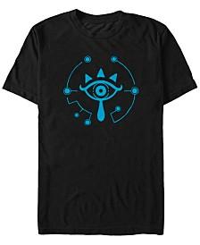 Nintendo Men's Zelda Breath of The Wild Sheikah Eye Logo Short Sleeve T-Shirt