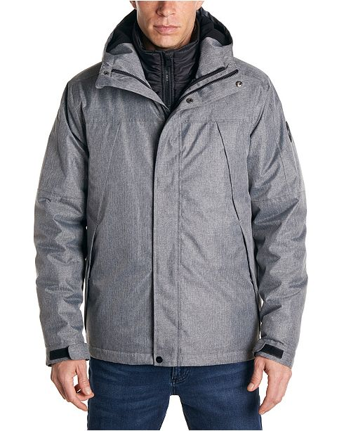 Perry Ellis Men's Heather 3 in 1 Systems Jacket