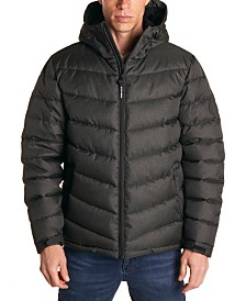 Perry Ellis Men's Heather Puffer Jacket