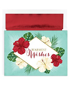 Tropical Floral Holiday Boxed Cards
