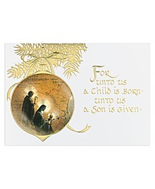 Holy Family Ornaments Holiday Boxed Cards, 16 Cards and 16 Envelopes
