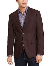 Men's Skinny-Fit Stretch Textured Sport Coat