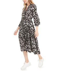 French Connection Bruna Lite Printed Fit & Flare Dress