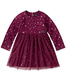 Calvin Klein Little Girls Star-Print Fleece Dress