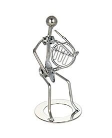 Metal Tuba Figurine Player