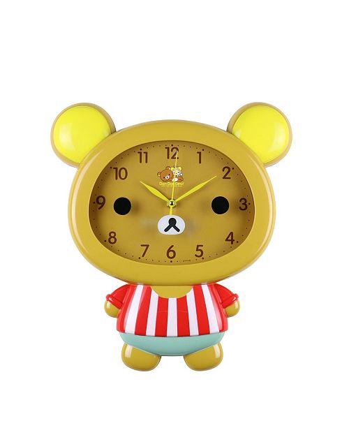 Three Star Bear Children's Wall Clock