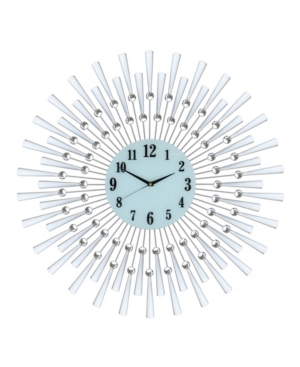 Three Star Sunburst Wall Clock