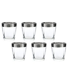 D.O.F Italian Band Glasses 6 Piece