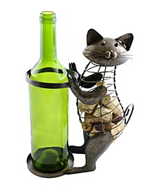 Cat Bottle and Cork Holder