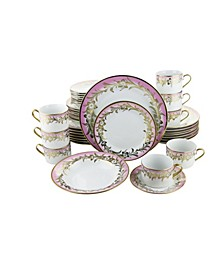 Flowers 40 Piece Dinnerware Set
