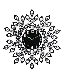 Round Blooming Leaves Wall Clock