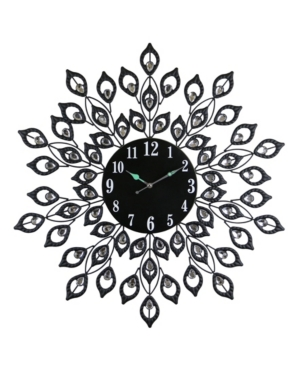 Three Star Round Blooming Leaves Wall Clock
