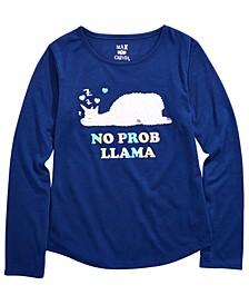 Little & Big Girls Llama-Print Pajama Top, Created For Macy's